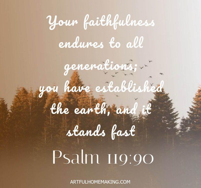 Psalm 119:90