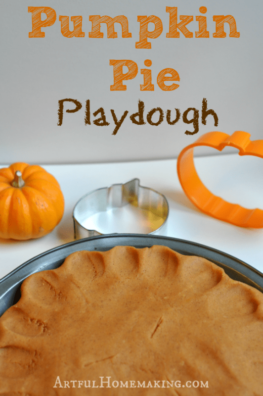 This pumpkin pie playdough recipe is the perfect fall sensory activity for kids!