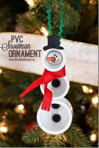 pvc snowman ornament