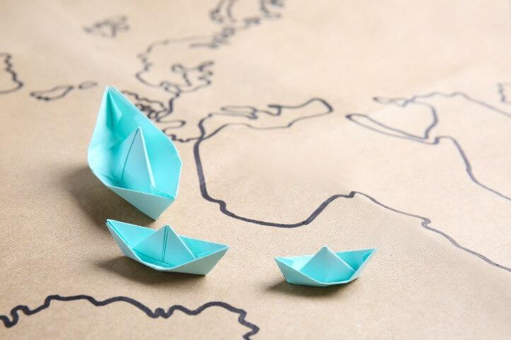 origami boats rainy day activity