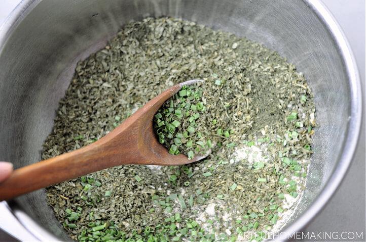 stirring ranch dressing mix