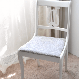 Raw Silk Mineral Paint Chair Makeover
