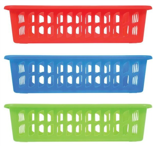 rectangular slotted baskets
