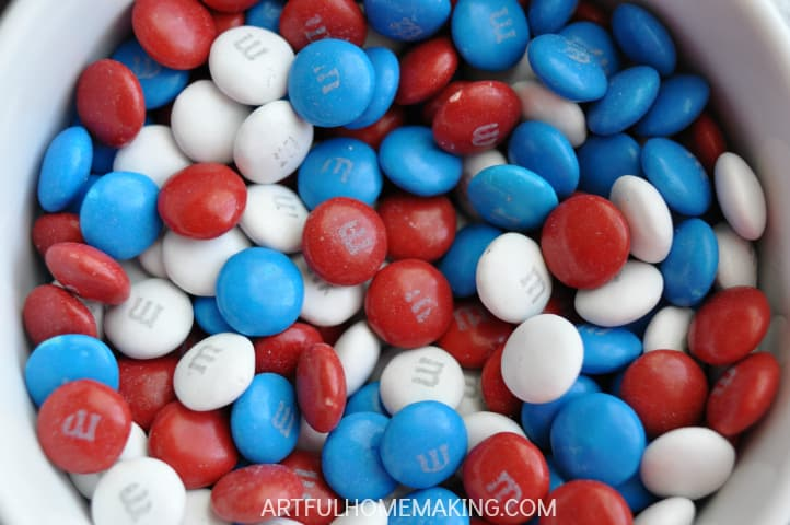 m and m patriotic cookies
