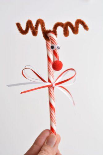 reindeer candy cane craft