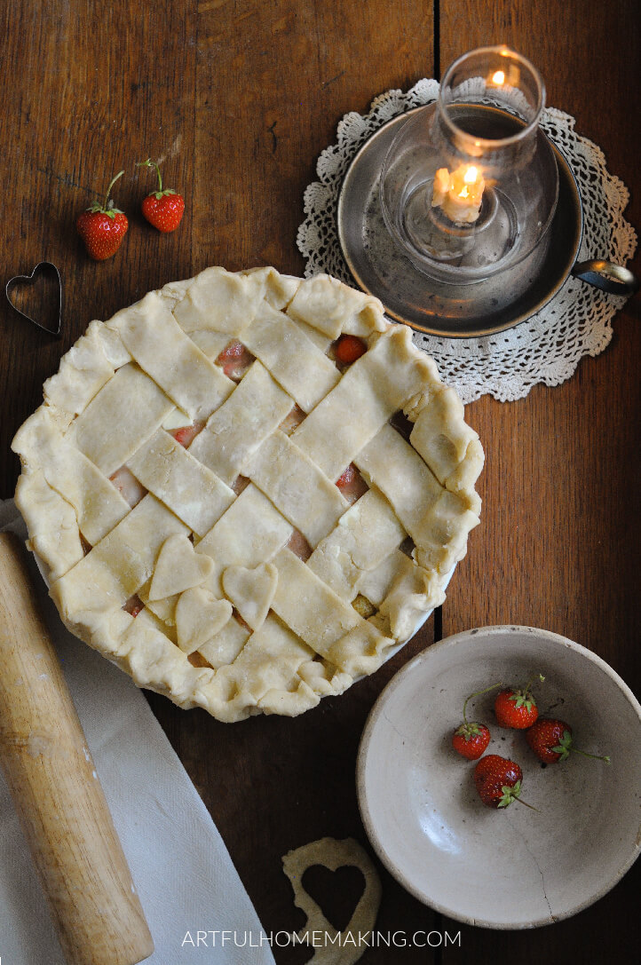 naturally sweetened strawberry pie