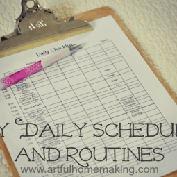 My Daily Schedule and Routines