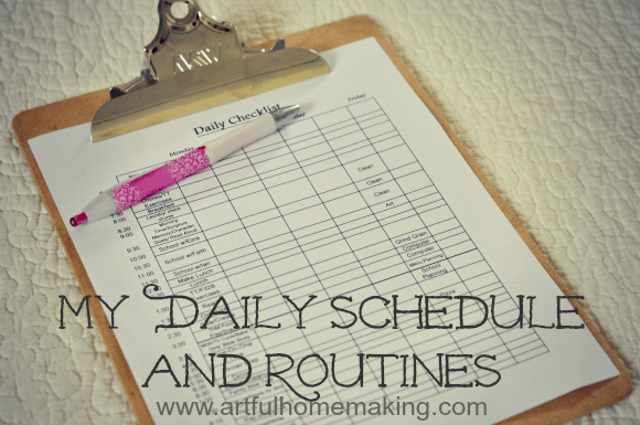 daily schedule and routines
