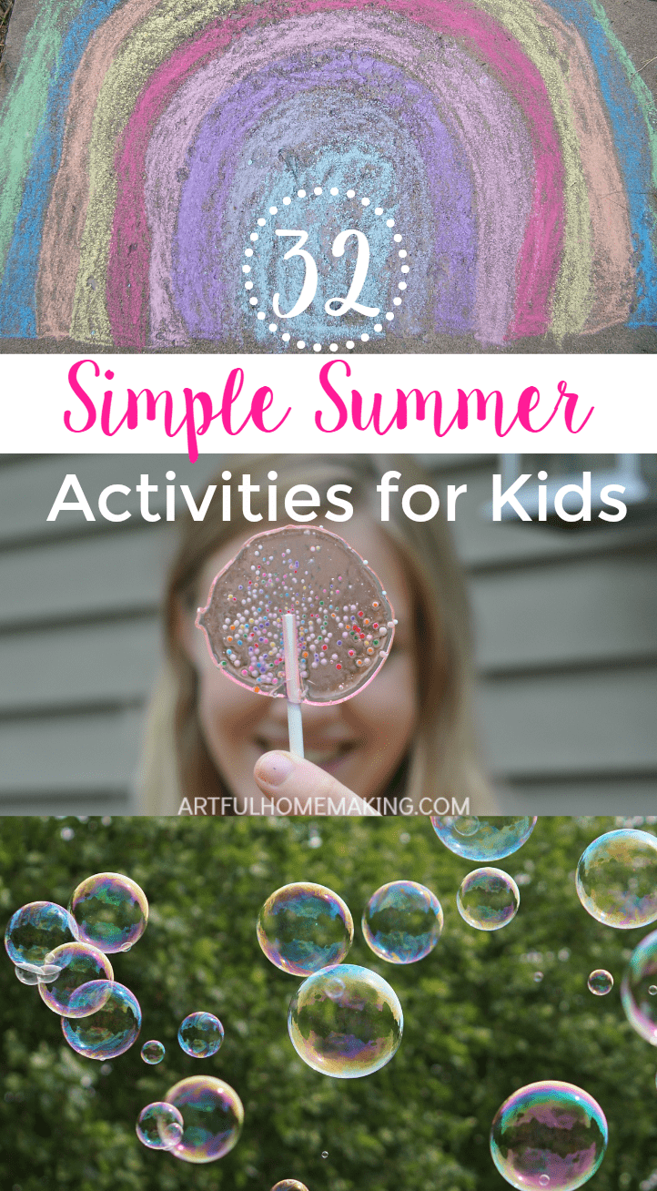 This post has some great simple summer activities for kids!