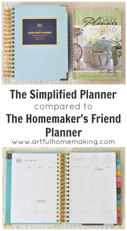 simplified planner vs homemakers friend