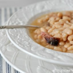Slow Cooker Ham and Beans Easy Recipe