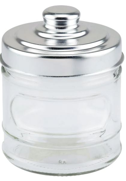 dollare store small glass storage jar with lid
