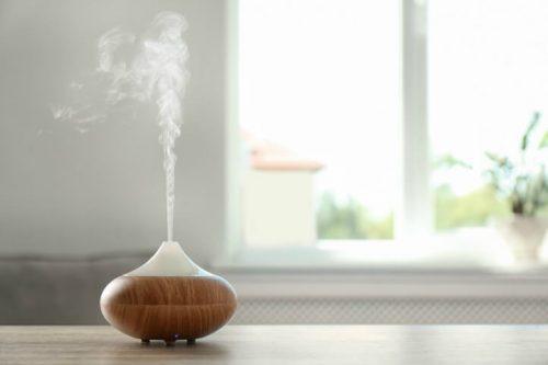 essential oil diffuser in room