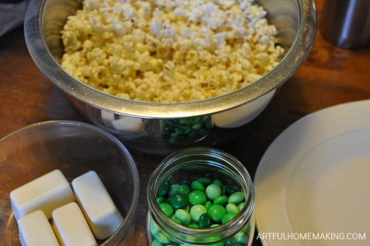 st. patrick's day chocolate popcorn