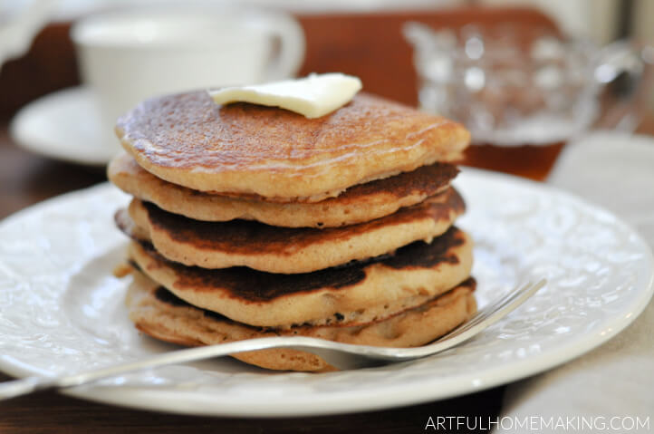sourdough pancakes with butter