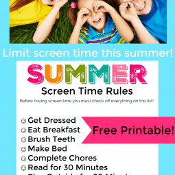 Printable Summer Screen Time Rules