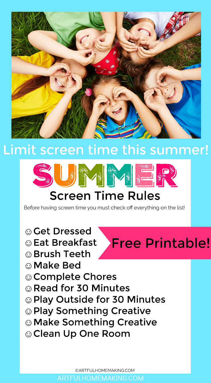 picture about Screen Time Rules Printable identified as Printable Summertime Show Season Guidelines - Suave Homemaking