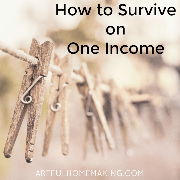 how to survive on one income