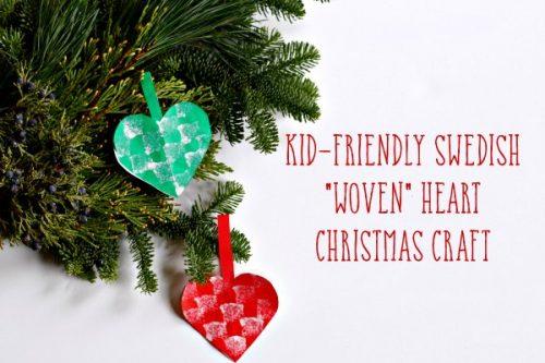 swedish heart christmas ornament craft