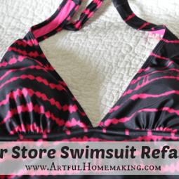 Dollar Store Swimsuit Refashion