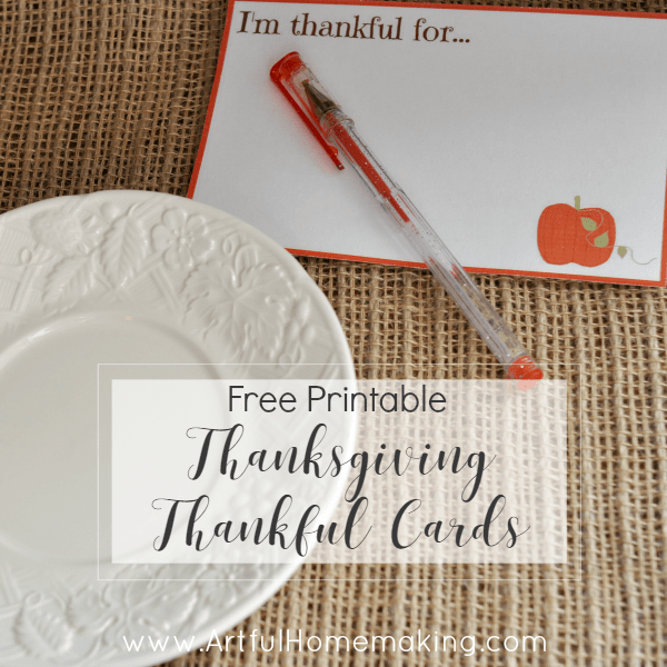 thankful card printables