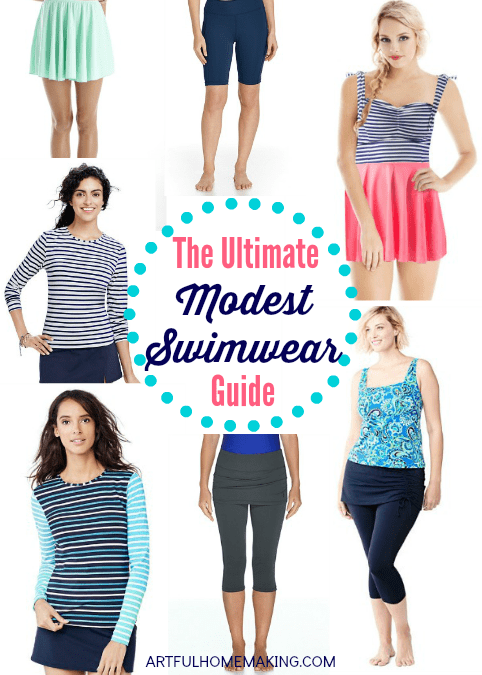 Modest Swimwear can be hard to find, but this Ultimate Modest Swimwear Guide is here to help!