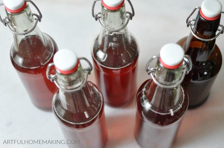 water kefir soda bottles