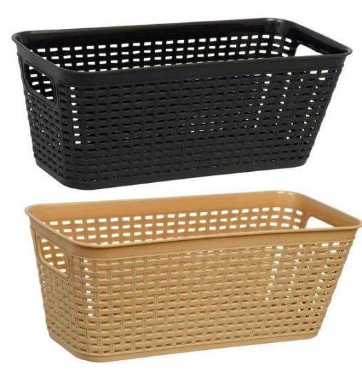 dollar store woven storage baskets
